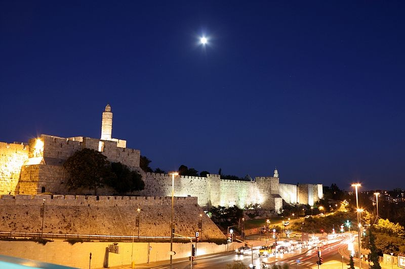 Jerusalem walls_night- By the Photographer Adiel lo